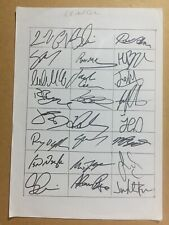 More details for leinster rugby signed team sheet