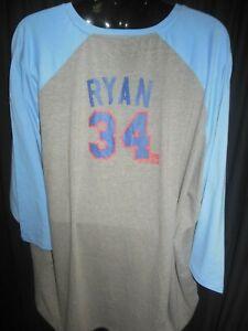 Texas Rangers Nolan Ryan #34 Men's Majestic Stone Wash Design Shirt 3X