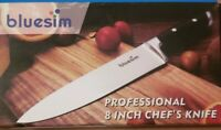 Bluesim Professional 8 inch Stainless Steel Wooden Handle Kitchen Chef's Knife