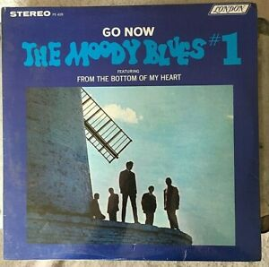 THE MOODY BLUES VINYL go now LP SEALED #1 Stereo NO BAR CODE Denny Laine mispell
