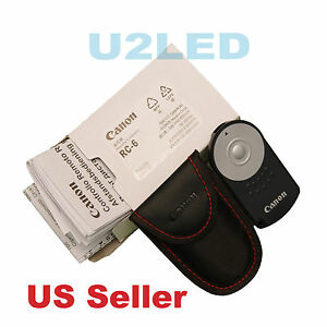 Canon RC-6 RC6 IR Wireless Remote Control EOS Rebel M 5D Mark III IV 7D 90D 5DSR