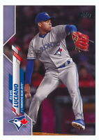 ELVIS LUCIANO 2020 TOPPS SERIES 2 FATHERS DAY BLUE PARALLEL #01/50 BLUE JAYS 536