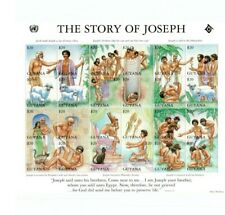 Guyana - Bible Stories Stamps - Story Of Joseph - Sheet of 24 Stamps MNH