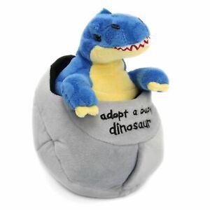 Adopt A Dinosaur In An Egg Plush Soft Toy Baby Tyrannosaurus Rex ~ Blue T Rex
