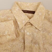 Perry Ellis Men's Button Up Shirt Size XL Extra Large Long Sleeve Plaid Yellow