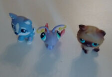 LITTLEST PET SHOP Lot of 3, Butterfly, Cat and Dog