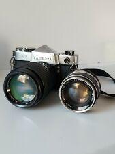 Yashica j7 and Yashinon-dx f1.4 50mm, JCPeeney f2.8 135mm