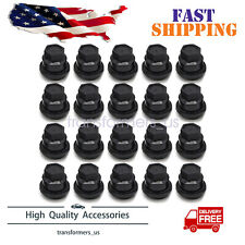 20 PCS BLACK LUG NUT COVERS CAP FIT FOR CHEVROLET S10 BLAZER GMC JIMMY SONOMA