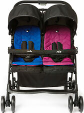 Joie Aire Twin cochecito Pink/blue double/duo Buggy baby/toddler viajes BNIB