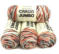 Caron Jumbo Skeins Yarnspiration 12oz 100% Acrylic Gossamer 295016 Lot Of 4