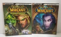 TWO WORLD OF WARCRAFT VIDEO GAME STRATEGY GUIDES - BRADYGAMES / BLIZZARD GAMES
