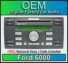 Ford 6000 CD player, Ford Fusion car stereo radio with FREE removal keys CDDJ