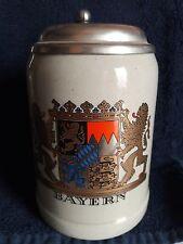 West German BAYERN LIDDED BEER STEIN GERZ