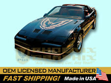 1985 1986 Pontiac Firebird Trans Am w/ Large Hood Bird Decals & Stripes Kit