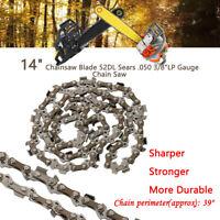 14'' Chainsaw Saw Chain Blade 3/8''LP .050 Gauge 52DL Pole Cut Wood Fast US SHIP