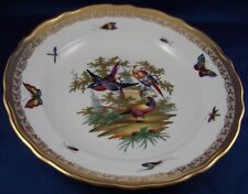 Antique Richard Klemm Dresden Porcelain Birds of Paradise Plate Porzellan Teller
