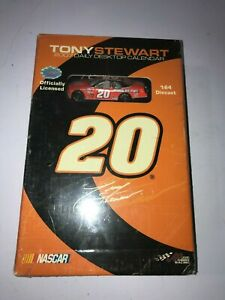 Tony Stewart  NASCAR 1:64 Diecast Car 2007 DAILY DESKTOP CALENDER