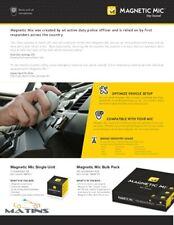 Magnetic Mic Two-Way Radio Mic Conversion Kit