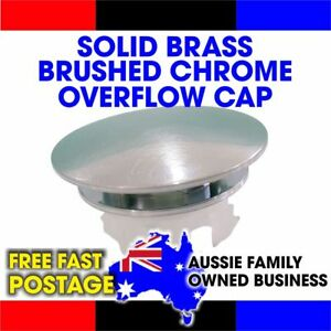 OVERFLOW BASIN SINK CAP COVER BRUSHED CHROME