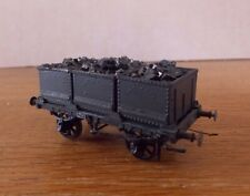KIT BUILT 3 STEEL TUB COAL WAGON PLAIN GREY LIVERY. EM Gauge.