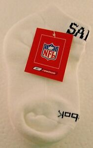NFL New Orleans Saints White Youth Ankle Socks, Size 6-8 1/2