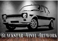 """FORD ESCORT MK1 RS2000 MEXICO AVO  LARGE DECAL WALL ART 23"""" X 46"""""""