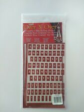 Armour Reusable Over n Over Glass Etching Stencil - alphabet and numbers