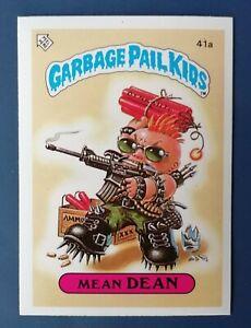 Mean Dean 41a UK Garbage Pail Kids Series 1(1985)Topps~NMT/MINT~Pack Fresh