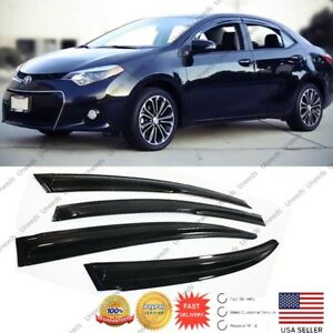 For 2014-2019 TOYOTA COROLLA JDM MUGEN 3D STYLE SMOKED WINDOW VISOR VENT SHADE