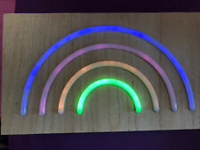wooden rainbow light, either freestanding or wall mounted