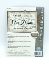 Home Hopes Dreams Love  Counted Cross Stitch Kit Sealed 7x5 Dimensions NEW