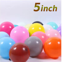 "5"" Inch SMALL Round Plain Latex Party quality Balloons wedding birthday baloons"