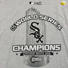 2005 Chicago White Sox World Series Champions Lee Sports MLB Gray Shirt XL NWOT