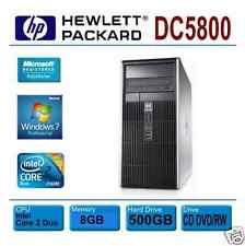 HP Compaq dc5800~3.0GHz Core 2 duo~8GB~500GB~DVD/RW LightScribe~Win 7 Pro 64bit