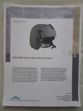 DOCUMENT RECTO VERSO TRANSAERO GENTEX HGU-56/P ROTARY WING HELMET SYSTEM