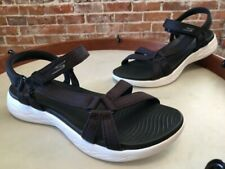 Skechers Go Walk On the Go Black Ankle Strap Brilliancy Sport Sandals NEW