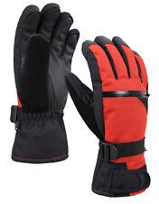 Men's Textured Winter Touchscreen Ski Gloves w/Zippered