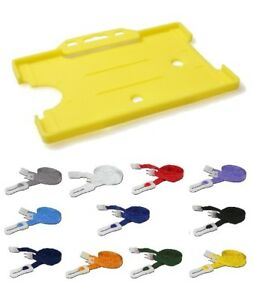 Yellow Landscape ID Card Holder with Breakaway Lanyard - Pick Your Colour