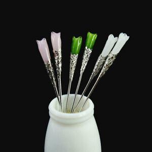 Chinese Style Retro Alloy+Glass Hair Stick Hair Chopsticks Chignon Hairpin Pin