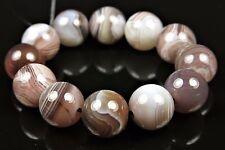 Quality Beautiful Botswana Agate Round Bead - 10 mm - 12 beads - 5234A