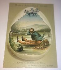 Rare Antique Victorian Marks Adjustable Chair Advertising Boston, MA Trade Card!
