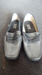 Hotter Comfort Concept size 4.5 UK 6.5US 37.5EUR  grey leather upper flat shoes