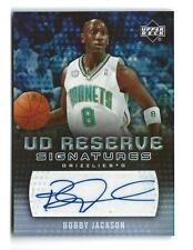2006-07 UD Reserve Signatures Bobby Jackson AUTOGRAPH Hornets