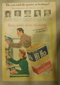 Sunshine Hi Ho Crackers Ad: Pantry Raiders from 1940's Size: 11 x 15 inches