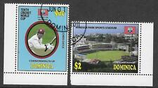 DOMINICA 2011 ICC 10th CRICKET WORLD CUP Chris Gayle Set 2v USED
