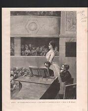 CONSERVATOIRE DE MUSIQUE PARIS CONCOURS DE CHANT 1886 GRAVURE ANTIQUE PRINT