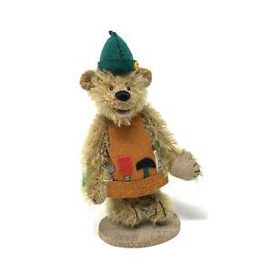 "Deb Canham Carpenter From Alice In Wonderland Miniature Teddy Bear 4"""