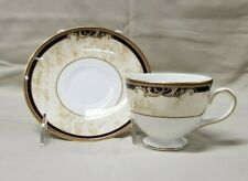 Wedgwood Cornucopia Footed Cup & Saucer - Leigh Shape - MINT - NEW WITH TAGS!