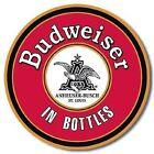 Budweiser in Bottles round metal wall sign (ga)