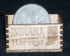 Dollhouse Miniature Indiana Produce Crate 1:12 Food Market Vegetables Fruit Farm